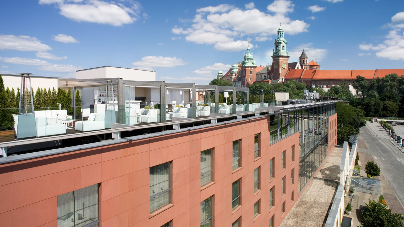 Breakfast at Rooftop Terrace & Lounge Bar - Sheraton Grand Krakow